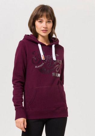 Superdry Kapuzensweatshirt CLASSIC RHINESTONE ENTRY HOOD mit Glitzersteinen und -prints