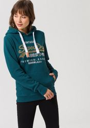 Superdry Kapuzensweatshirt PREMIUM GOODS RHINESTONE ENTRY HOOD mit modischer Glitzerapplikation