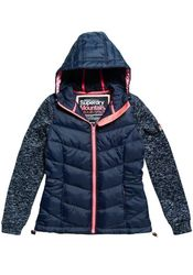 Superdry Steppjacke STORM HYBRID ZIPHOOD mit angesagtem Strickfleece