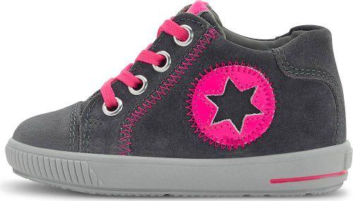superfit, Lauflernschuh Moppy in mittelgrau, Sneaker für Mädchen