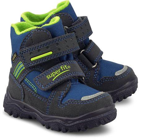 superfit, Winter-Boots Camoscio in dunkelblau, Stiefel für Jungen