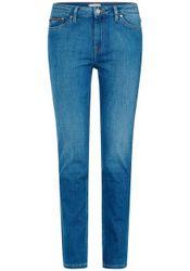TOMMY HILFIGER 5-Pocket-Jeans »ROME STRAIGHT RW« in mittelblauer Waschung
