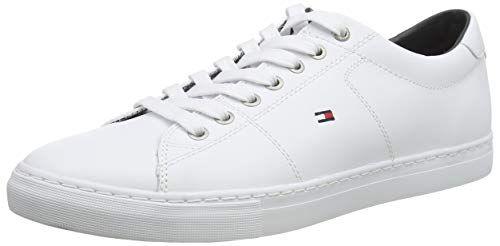 Tommy Hilfiger Herren Essential Leather Sneaker, Weiß (White 100)