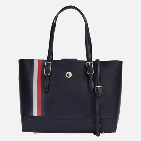 Tommy Hilfiger Women's Honey Med Tote Corp - Corporate Mix