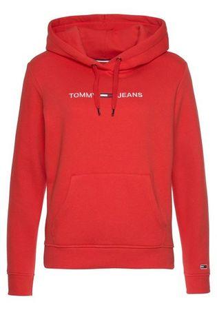 TOMMY JEANS Kapuzensweatshirt »TJW CLEAN LINEAR LOGO HOODIE« mit gesticktem Tommy Jeans Schriftzug & Flag