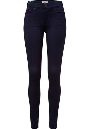 TOMMY JEANS Skinny-fit-Jeans »MID RISE SKINNY NORA BGBST« mit Tommy Streifen auf der Coinpocket & Tommy Jeans Badge