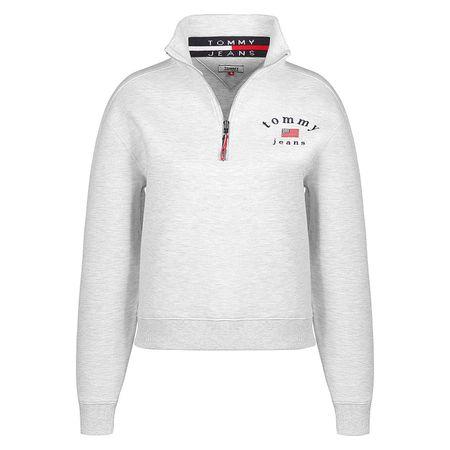 Tommy Jeans Sweater Modern Logo Quarter Zip W Sweatshirts grau Damen Gr. 32/34