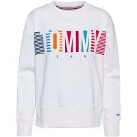 Tommy Jeans Sweatshirt Sweatshirts weiß Damen Gr. 40