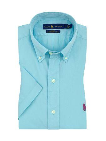 huge discount a7fd7 bf701 Übergröße : Polo Ralph Lauren, Freizeithemd, kurzarm in Hellblau für Herren