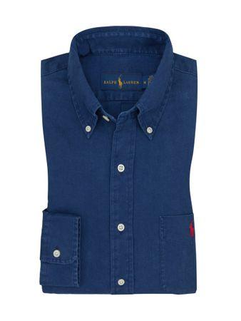 huge discount a20d5 4866e Übergröße : Polo Ralph Lauren, Leinenhemd mit Brusttasche in Marine für  Herren