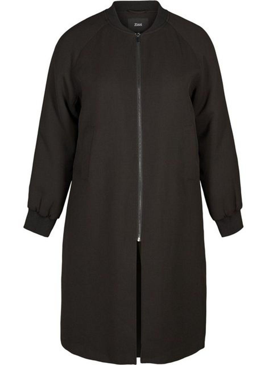 abwechslungsreiche neueste Designs exzellente Qualität diversifiziert in der Verpackung Zizzi Outdoorjacke Damen Große Größen Jacke Rundhals Warm Lang ...
